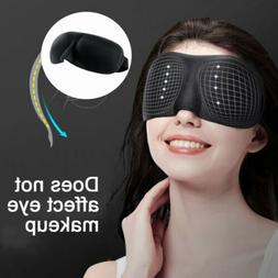 Unisex Soft Padded Blindfold 3D Eye Mask Travel Sleep Aid Sh