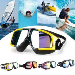 Unisex Swim Eye Mask Large Frame Glasses Swimming Goggles Wa