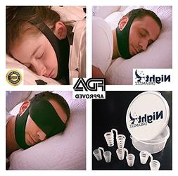 Premium Upgraded Anti Snoring Chin Strap and Nose Vents with