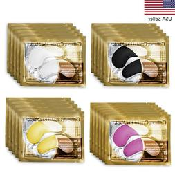 USA 20Packs Gold Crystal Collagen Eye Mask Patch Pad Anti Ag