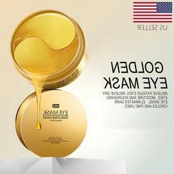 USA 60Pcs Gold Hydrogel Eye Patch Eye Mask Collagen Gel Unde