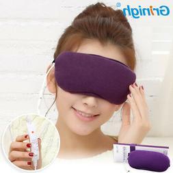 Purple USB Sleep Eye Mask Anti Fatigue Dark Circles Aid Heat