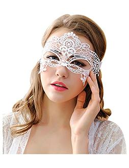 VANTOO Venetian Masquerade Mask Women Lace Mask for Hallowee