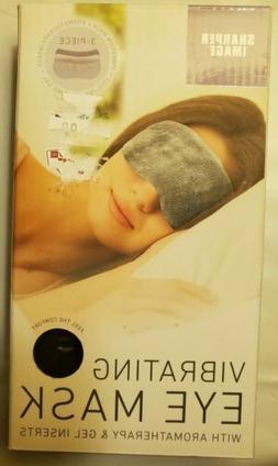 Sharper Image Vibrating Eye Mask W/ Aromatherapy & Gel Inser