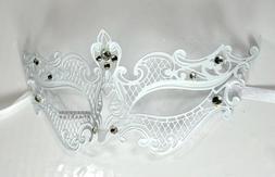 White Royal Class 2nd Desgin Laser Cut Venetian Masquerade M