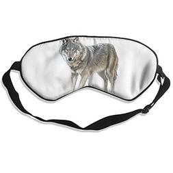 Wolf Sleep Eye Mask 100% Mulberry Silk Blindfold Travel Slee