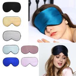 Women Eye Mask Soft Padded Travel Night Sleeping Blindfold S