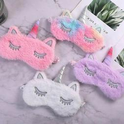Women Girl Unicorn Sleep Eye Mask Sleep Blindfold Eyeshade E