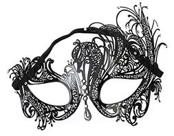 EachEver Women's Half Face Masquerade Mask Shiny Rhinestone