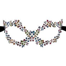 Women's Multi Crystal Rhinestone Royal Venetian Masquerade E