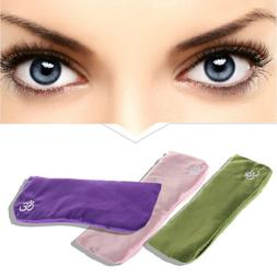 Yoga Eye Pillow Silk Cassia Seed Lavender Massage Relaxation