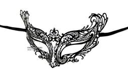Young Queen Laser Cut Venetian Masquerade Mask with Rhinesto
